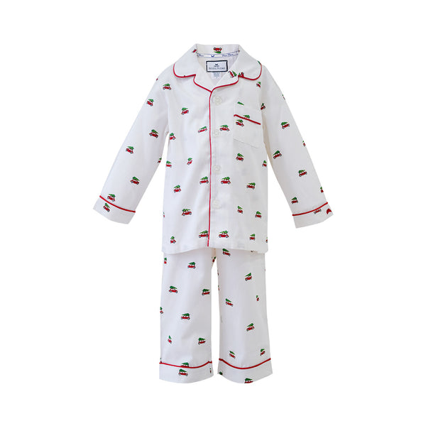 House of Little Jay | Holiday Journey Pajama Set White
