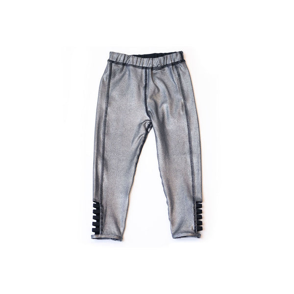 House of Little Jay | Metallic Silver Leggings