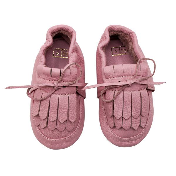 House of Little Jay | Loafer Lace-up Moccasin - Strawberry Cream
