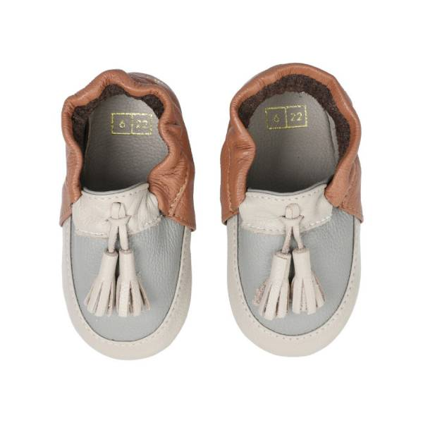 House of Little Jay | Tassel Moccasin - Pecan Brown