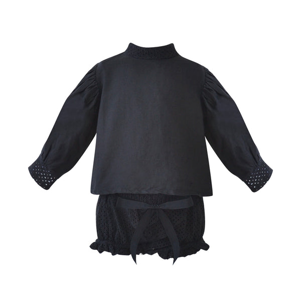 House of Little Jay | Black Blouse & Bloomer
