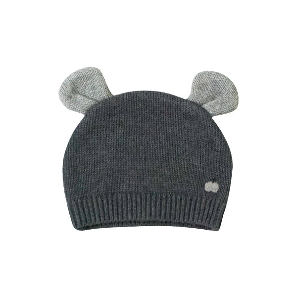 House of Little Jay | Baby Knitted Hat with Ears - Dark Grey