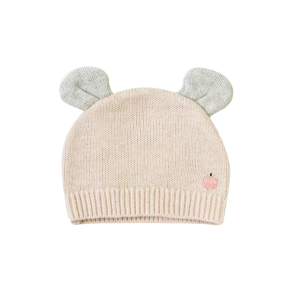 House of Little Jay | Baby Knitted Hat with Ears - Pale Pink