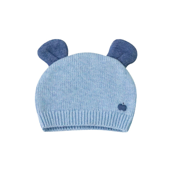 House of Little Jay | Baby Knitted Hat with Ears - Pale Blue