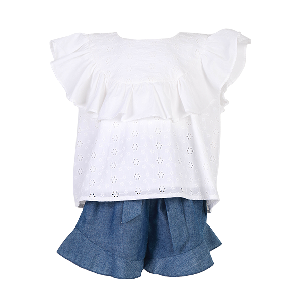House of Little Jay | Ruffle Top & Shorts Set