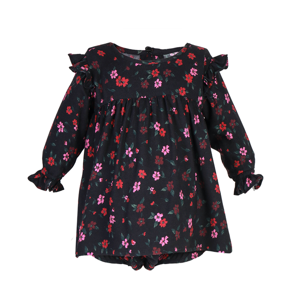 House of Little Jay | Black Floral Dress