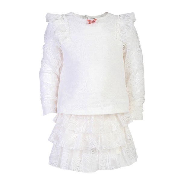 House of Little Jay | White Lace Top and Shorts