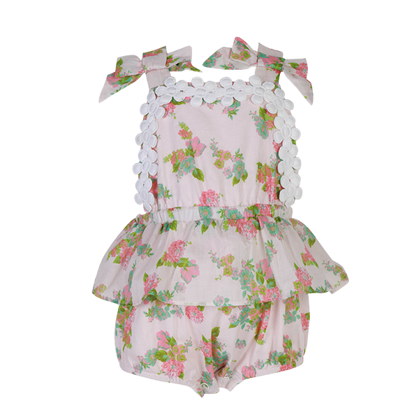 House of Little Jay | Bright Floral Onesie