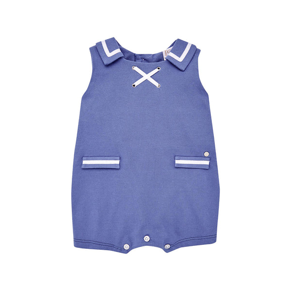 House of Little Jay | Blue Collared Romper