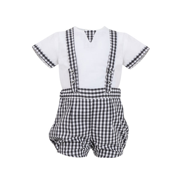 House of Little Jay | Gingham Overall Set