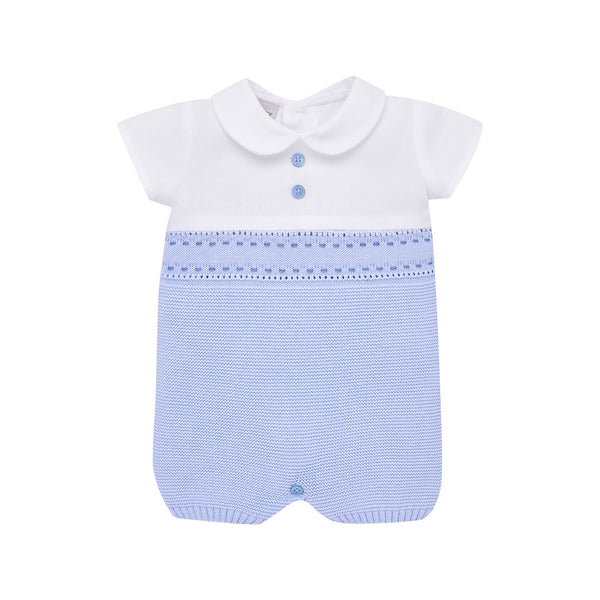 House of Little Jay | Baby Blue Knitted Romper
