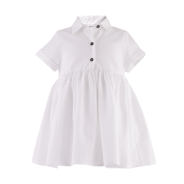 House of Little Jay | White Buttoned Dress