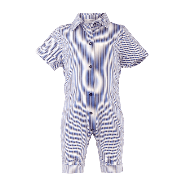 House of Little Jay | Striped Buttoned Jumpsuit