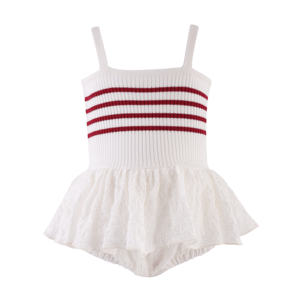 House of Little Jay | Striped Skirted Bodysuit