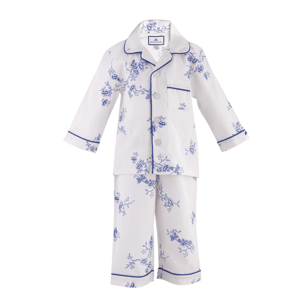 House of Little Jay | Indigo Floral Pajamas Set