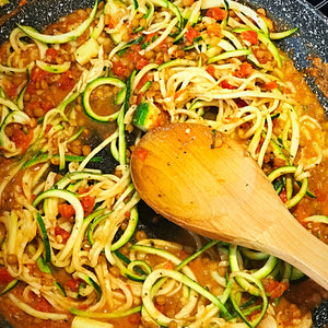 vegan lentil and zoodle bolognese tanialloyd fitness