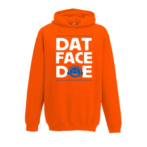 Dat Face Doe Hoodie in Orange