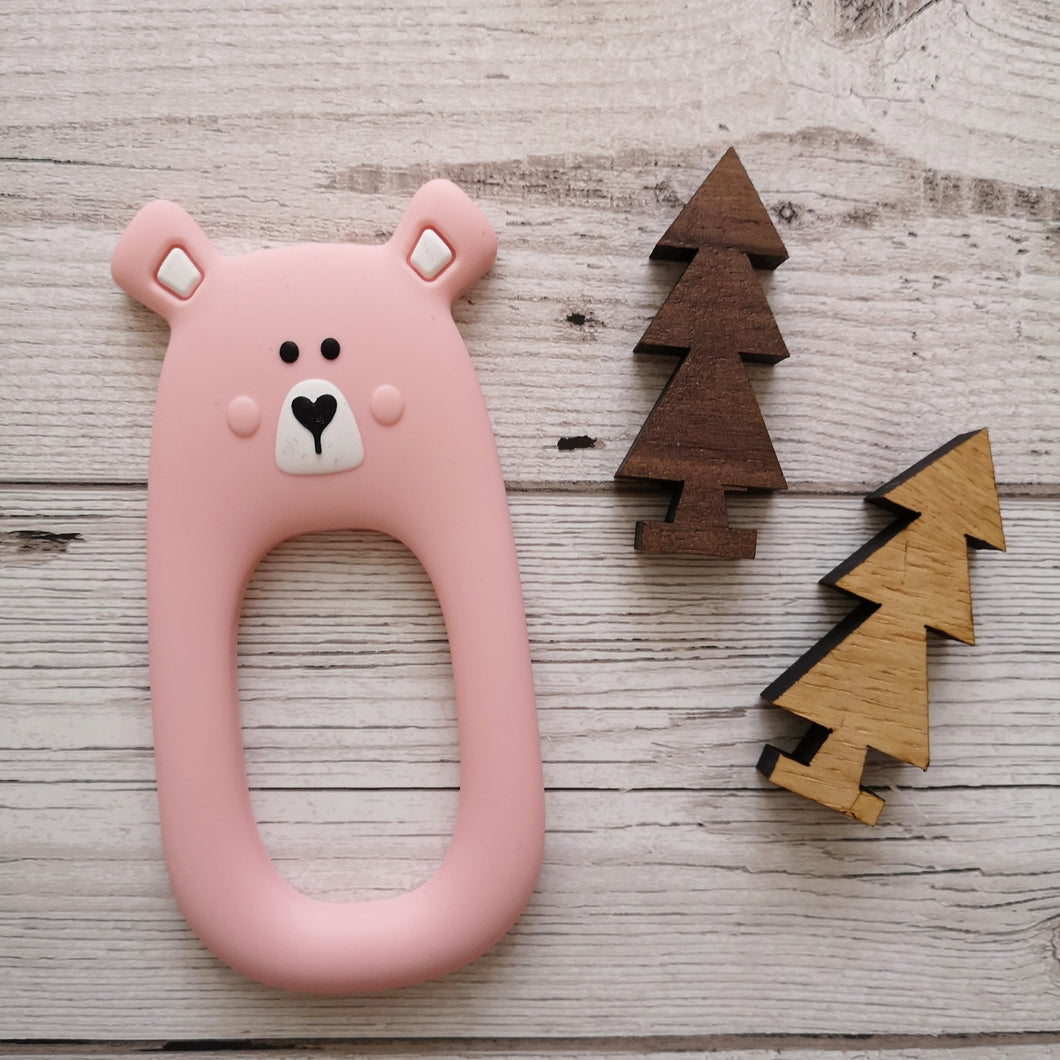 Bear teether pink
