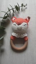 Load and play video in Gallery viewer, Crochet fox rattle teether