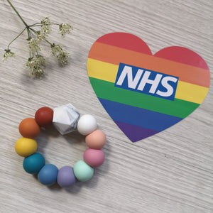 NHS Charities Together: Rainbow teething ring