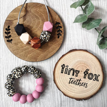 Load image into Gallery viewer, Leopard: Gift set teething necklace & teething ring