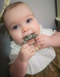 Neutral Leopard: Cub Teething Ring