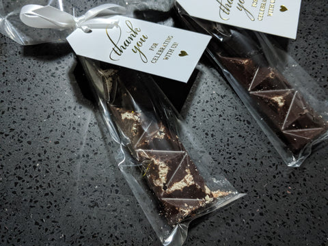 Wedding favour mini bar superfood linda lee chocolates