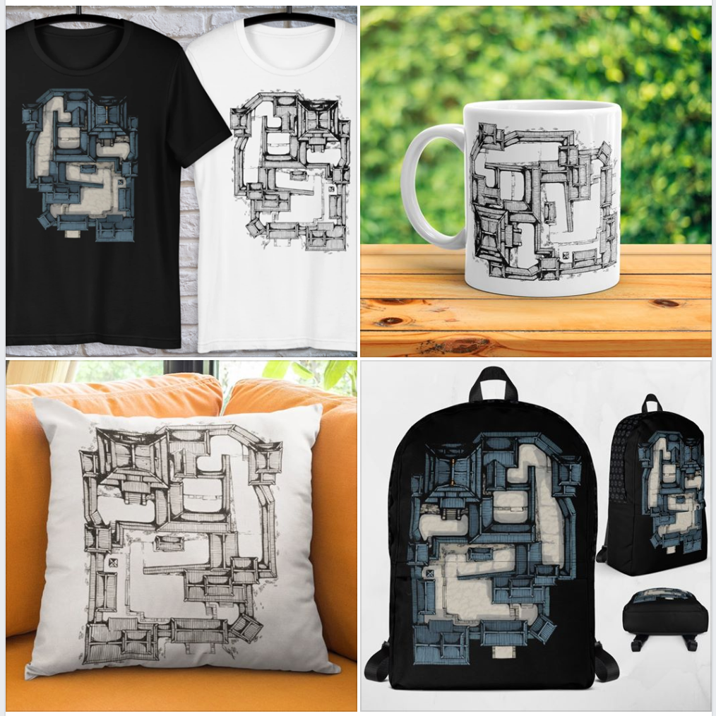Samurai Castle Map Merchandise: Best Gifts For Tabletop RPG Players