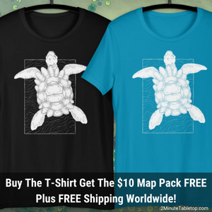The Astral Turtle T-Shirt with a FREE $10 Map Pack