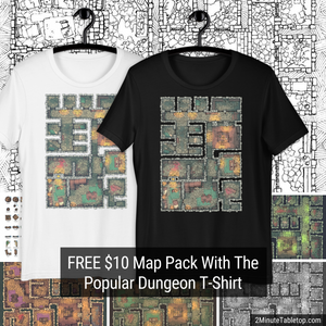 Free $10 Map Pack With The Popular Dungeon T-Shirt