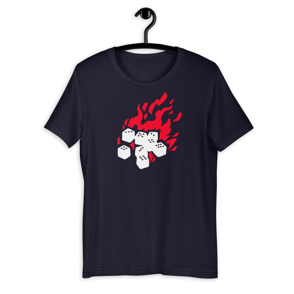 Fireball Unisex Premium T-shirt for Dungeons and Dragons players