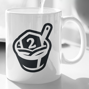 2MinuteTabletop Coffee Mug (Black on White)