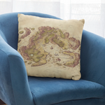 Arvyre Cartographic Map Pillow Case