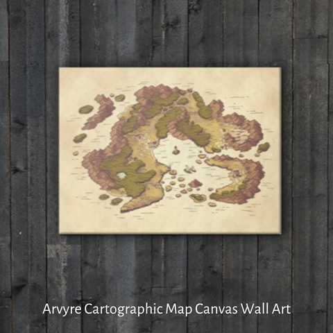 Arvyre Cartographic Map Canvas Wall Art