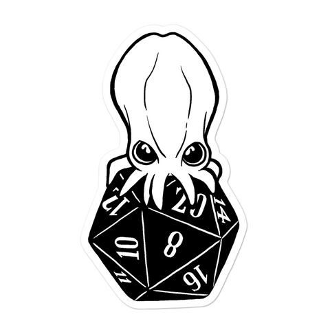 Baby Cthulhu Sticker For D&D Players