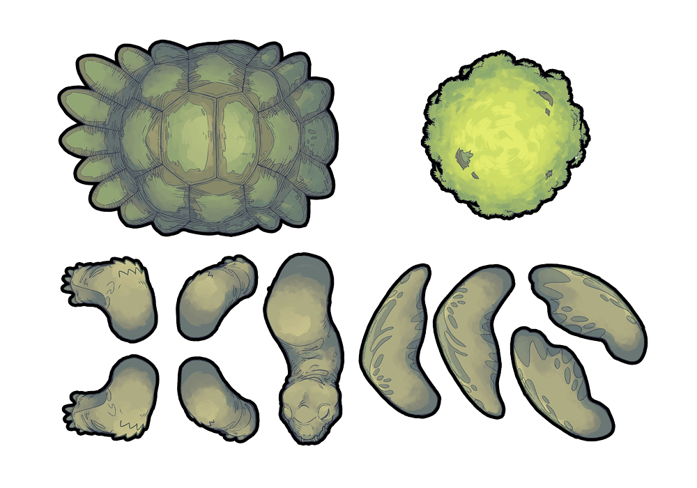 Colossal Turtle RPG Battle Map Assets Printable Assets