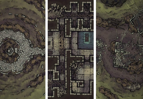 Forgotten Crypt And Damp Mine Map Pack (Digital): FREE With Any Shirt, Hoodie or Backpack
