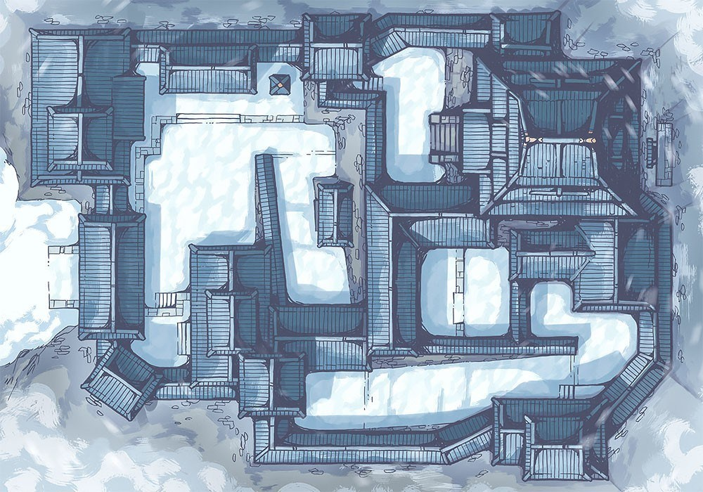 Japanese Castle RPG Battle Map