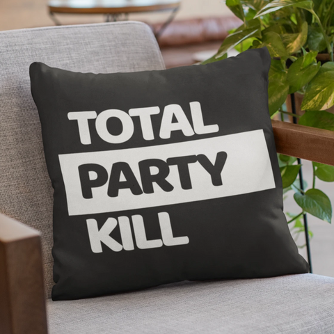 Total Party Kill (TPK) Pillow Case