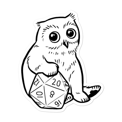 Baby Owlcub Sticker For D&D Players