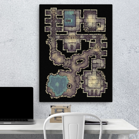 Forgotten Crypt Canvas Wall Art for D&D players