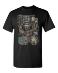 Forgotten Crypt T-Shirt (Black) for D&D players