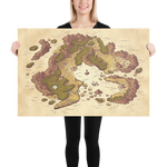 Arvyre Cartographic Map Poster | D and D Player Gift