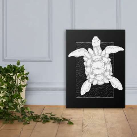 Astral Turtle Canvas Wall Art