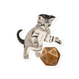 Tabby Cat Sticker For D&D Players