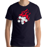 Fireball Unisex Premium T-Shirt (Black or Navy) for Dungeons and Dragons players