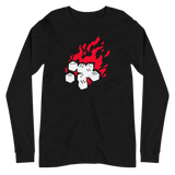 Fireball Unisex Premium Long Sleeve T-Shirt (Black) for RPG Role-Playing Gamers