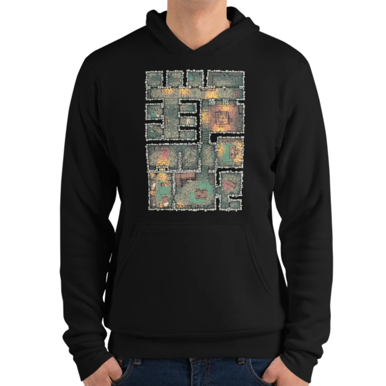 The Dungeon Hoodie for RPG Tabletop fans