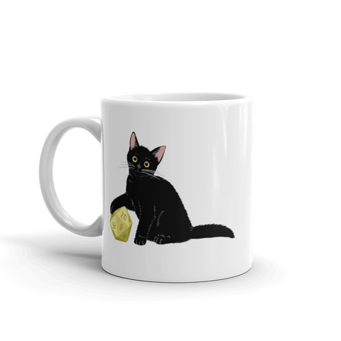 Black Cat D&D Player Coffee Mug