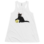 Black Cat Women's Flowy Racerback Tank For D&D Cat Lovers